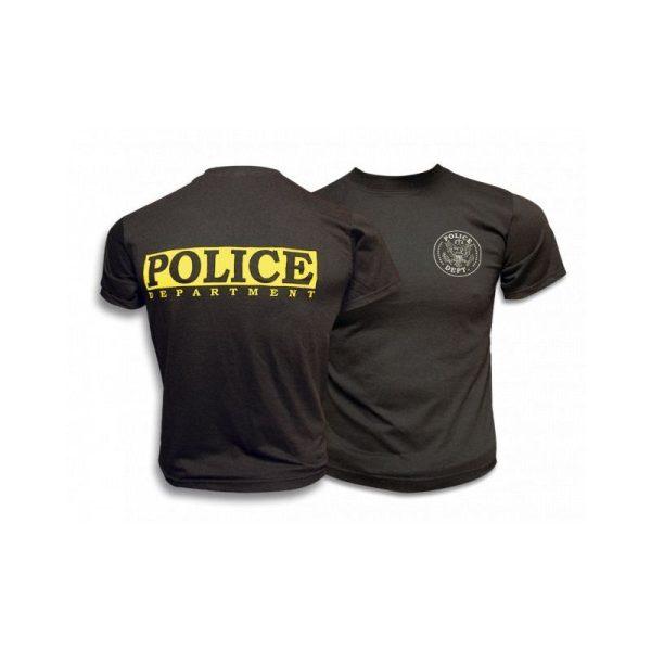 Camiseta M/C POLICE.Color:NEGRA.Talla S
