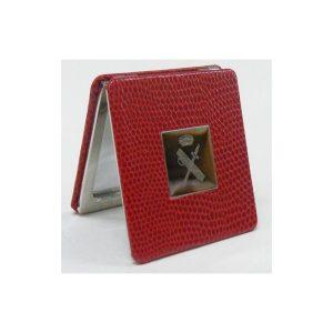 Espejo bolso señora Rojo con Escudo Guardia Civil