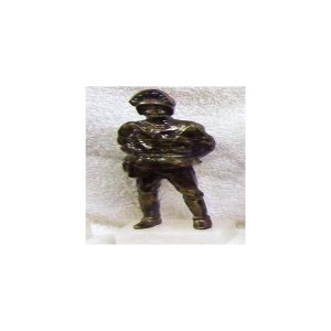 Figura Guardia trafico moderno color bronce 23x7 cm