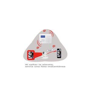 Kit de Alarma Pro2 con Video Verificación y Grabación. Central + 1 PIR + Mando + Cámara IP Megapixel