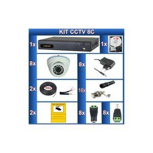 """Kit de 8 camaras de videovigilancia CCTV """"8C"""""""