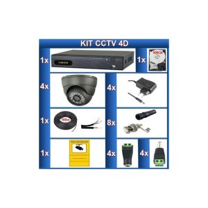 "Kit de 4 camaras de videovigilancia CCTV ""4D"""