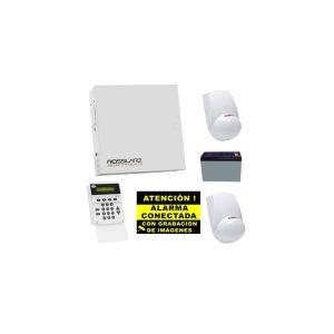 Kit de Alarma Cableado Rosslare Central + 2 PIR + Teclado + Bateria + Cartel