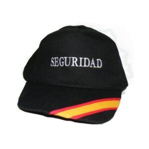 Gorra Seguridad Bordada con Bandera España en Visera