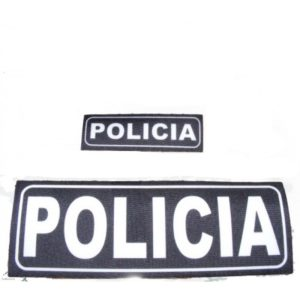 Parche CON VELCRO para chaleco Policia, Guardia Civil, Policía Local