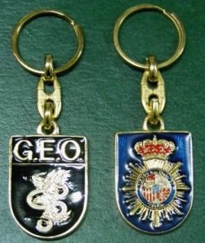 Llavero Policia Nacional y Emblema GEO