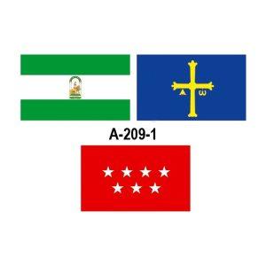 Bandera exterior con escudo 150x100 cm. (España, CC.AA.,UE, etc)
