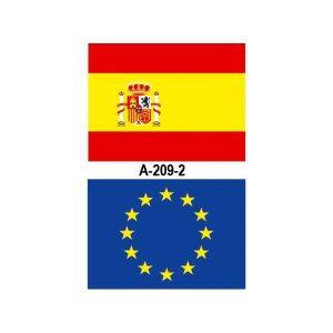 Bandera exterior con escudo 200x150 cm. (España, CC.AA.,UE, etc)