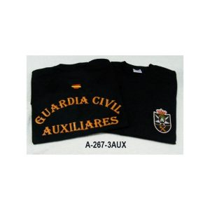 Camiseta negra emblema Guardia Civil Auxiliares