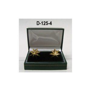 Estrella baño de oro (par) 8 puntas