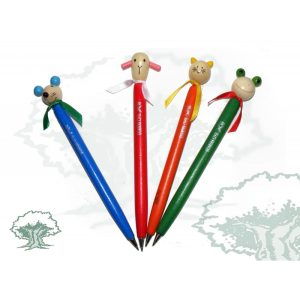 Boligrafo madera muñequitos varios modelos