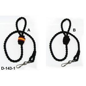 Cordon para silbato de color negro