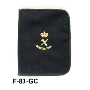 Carpeta bordada portaboletines cuartilla sencilla s/pinza con cremallera