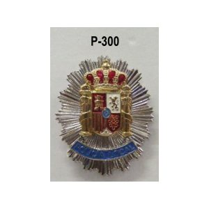 Placa metálica pecho Policía Local PLATEADA Escudo Constitucional