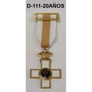 Medalla Cruz a la Constancia 20 AÑOS