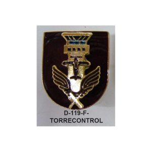 Distintivo en relieve Funcion TORRE CONTROL