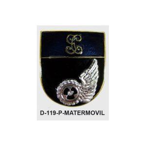 Distintivo en relieve Permanencia MATERIAL MOVIL