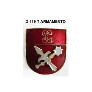 Distintivo en relieve Titulo ARMAMENTO