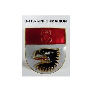 Distintivo en relieve Titulo INFORMACION
