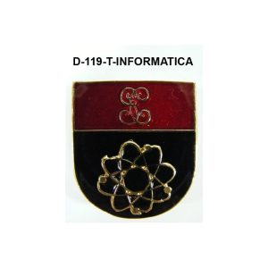 Distintivo en relieve Titulo INFORMATICA