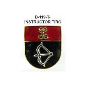 Distintivo en relieve Titulo INSTRUCTOR TIRO