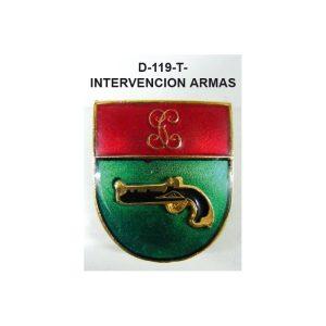 Distintivo en relieve Titulo INTERVENCON ARMAS