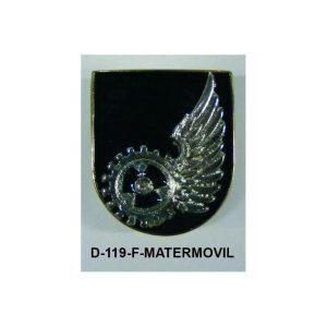 Distintivo en relieve Funcion MATERIAL MOVIL