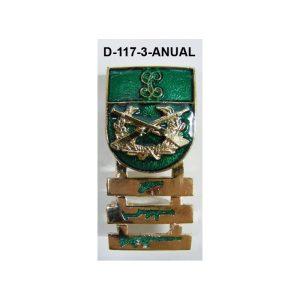 Distintivo Tirador Selecto ANUAL Barras antiguo