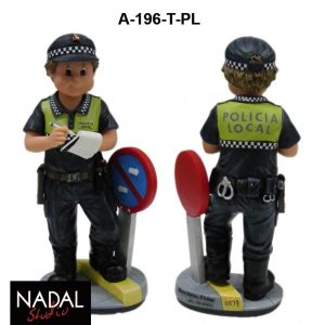 Figura Policia Local dirigiendo Trafico porcelana decorativa Mediana (NADAL Studio)