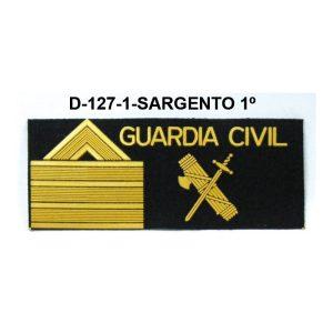 Galletas fieltro negra GRS SARGENTO 1º