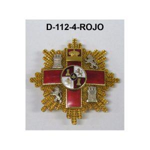 Gran Placa Merito Militar distintivo ROJO