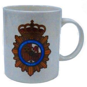 Taza Policia Nacional 11.5x9.3 CM
