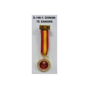 Medalla Tela miniatura DONANTE SANGRE