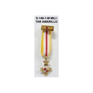 Medalla Tela miniatura MERITO MILITAR DISTINTIVO AMARILLO