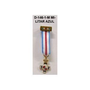 Medalla Tela miniatura MERITO MILITAR DISTINTIVO AZUL