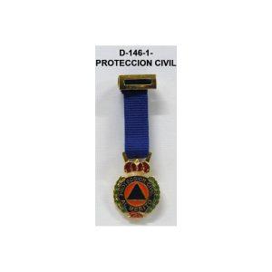 Medalla Tela miniatura PROTECCION CIVIL