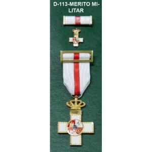 Cruz Merito Militar distintivo blanco + Regalo medalla mini+pasador