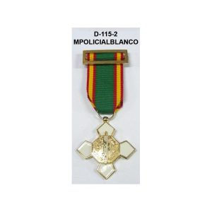 Medalla MERITO POLICIAL DISTINTIVO BLANCO