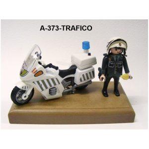 Muñeco Motorista articulado con moto TRAFICO Guardia Civil