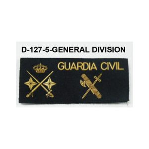 Galleta fieltro negra velcro GENERAL DIVISION