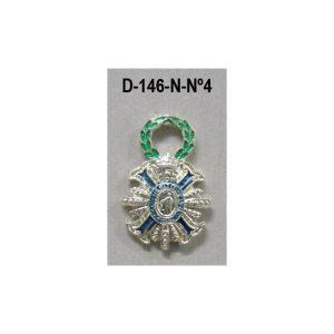 Medalla miniatura tipo pin PLACA MERITO CIVIL