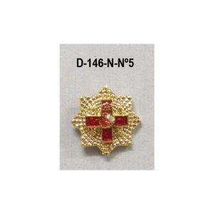 Medalla miniatura tipo pin PLACA MERITO MILITAR DISTINTIVO ROJO