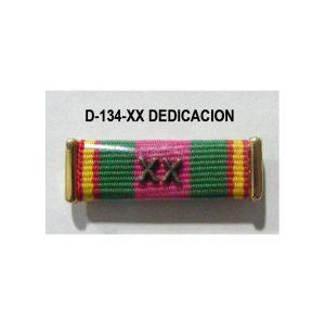 Pasador condecoraciones un hueco XX DEDICACION POLICIAL