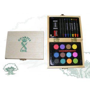 Caja madera Acuarelas-Colores