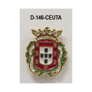 Medalla miniatura tipo pin CIUDAD CEUTA