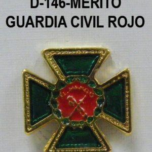 Medalla miniatura tipo pin CRUZ MERITO GUARDIA CIVIL ROJO