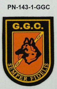 Distintivos especialidades PVC GGC