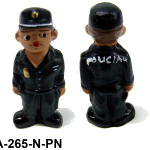Muñeco Policia de Barro nueva uniformidad