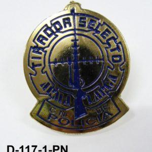 Distintivo tirador selecto Cuerpo Policia