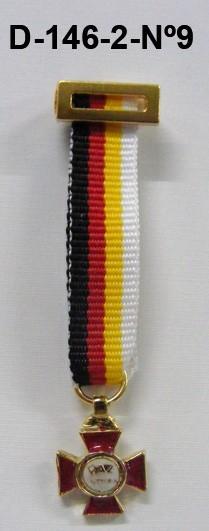 Medalla miniatura Tela 25 AÑOS DE PAZ